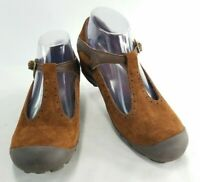 Merrell Plaza Strap Womens Brown Suede Leather Mary Jane Shoes Sz 8