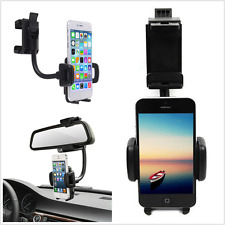 1X Universal 360° Car Phone Holder Rearview Mirror Mount Stand Cradle for Phone