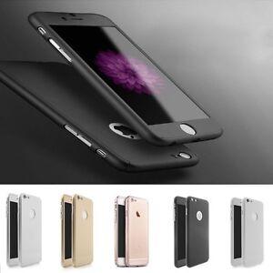 Rundum 360° Cover Schutz Hülle + Glas für Apple iPhone 5 5s NE 6 6s 7 Plus
