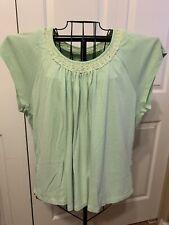 Women's Clothing Axcess Blouse Shirt Top In Mint Green Size XXL