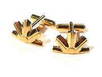 Bijou alliage doré boutons de manchette géométriques