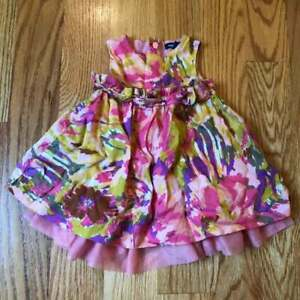 Baby Gap watercolor print tulle dress size 3-6 months