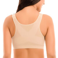 Women's Full Coverage Front Closure Wire Free Back Support Bra
