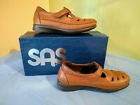 SAS Roamer Tripad Comfort Women's Size 7 W Wide Brown Leather Shoes