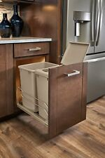 Rev-A-Shelf 53WC-1835SCDM-212  Double Champagne 35 Qt. Pull-Out Waste Containers