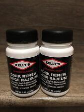 Lot of 2 KELLY'S CORK RENEW Birkenstock Repair Seal Waterproof Protector 2.4 oz