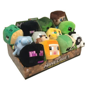 Minecraft JINX Mini Crafter Plush Enderman, Wolf, Dragon, Creeper, Steve, Panda