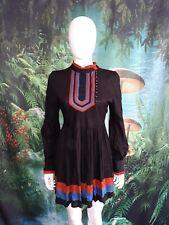 NWT Aryn K Stunning 60s Black Boho Dress size M (A)