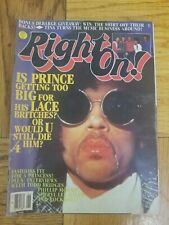RIGHT ON MAGAZINE SUPER SPECIAL PRESENTS PRINCE ISSUE 1985