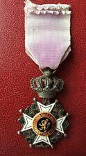 Belgique - Superbe médaille Chevalier de l'ordre de Léopold  bilingue