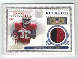 2011 KENDALL HUNTER TIMELESS TREASURES ROOKIE RECRUITS MATERIALS PRIME PATCH /25
