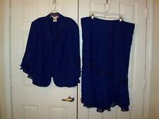 Plaza South purple polyester 2pc dress size 24W NWT