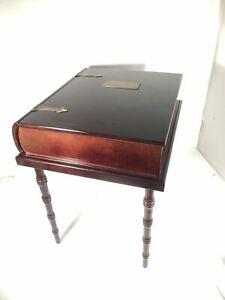 Vintage Bombay Company Wood Book Storage Memory Writing Box Bible Stand Display