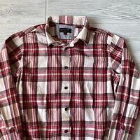 Banana republic slim fit flannel long sleeve Shirt Button Front Mens Size medium