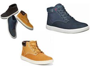 timberland men's Groveton chukka sneakers Nubuck Leather Navy, Wheat  9.5, 11.5