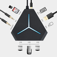Triangle USB 3.0 HUB 6 Ports USB Hub Splitter Multi Port For Macbook Laptop PC