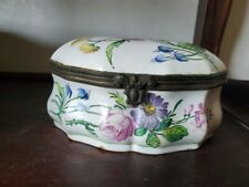 Antique 17th Century French Candy Box Faience Veuve Perrin
