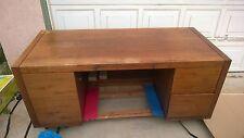 "75"" Vintage 1972 Veripanel Hiebert Wood Executive Desk"