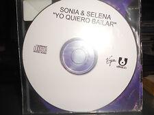 SONIA & SELENA - YO QUIERO BAILAR - cd singolo PROMO
