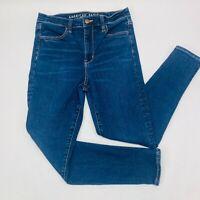 American Eagle Womens Jeans 10 S Blue Super Hi-Rise Jegging Next Level Stretch