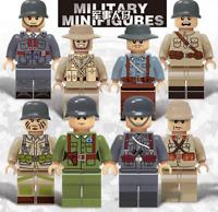 Baukästen 8PCS Militär Truppe Mini Figur Modell Werwolf Kinder Geschenk