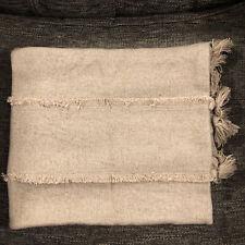 Restoration Gardware Goa Tasseled Queen Lounger Pillow Sham, In Dune
