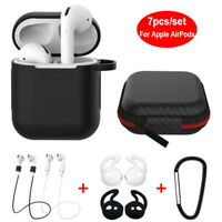 Strap Holder&Silicone Case Cover For Apple AirPods Air Pod Earphones Accessories
