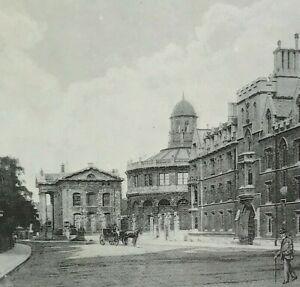 University of Oxford Exeter College Broard Street halftone print 1895 The Album