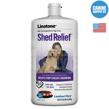 Lambert Kay Linatone Shed Relief Dog Supplement (Skin + Coat), 32-Ounce Bottle