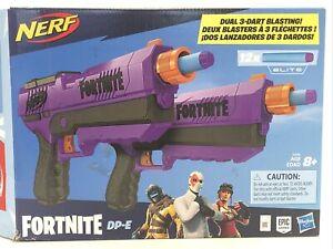 NERF Fortnite DP-E Dart Blaster Toy 2 Pack Dual 3 Dart Blasting NOB