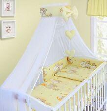 BABY BEDDING SET COT COTBED 3 6 10 14 Pieces PILLOW DUVET COVER BUMPER CANOPY