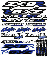 ZX-9R Ninja Racing Motorcycle Decals Stickers Set Laminated ZX9R ZXR INK BLUE