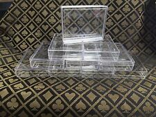 8 Clear Playing Card One 1 Deck Storage box cases Poker SIze Empty plastic