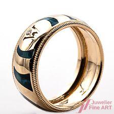 Wellendorff Ring 750/- 18 Kt Gelbgold mit Diamant ca. 0,02ct TW/VVS