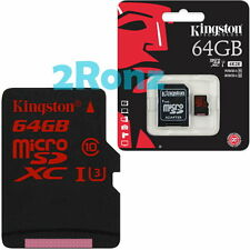 Kingston U3 64GB 64G Micro SDXC TF Card UHS-I Mobile SDHC SD 4K SDCA3 90R/80W