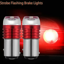 2X Red 1157 BAY15D P21/5W Strobe Flash Light Brake Blink Led Tail Reverse Bulb~