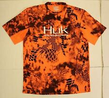Huk Performance Men's Kryptek Icon Fishing T-Shirt FR7 Inferno Orange Medium NWT