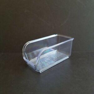 "iDesign Linus Sugar Sweetener Packet Holder Organizer Clear Plastic 4 1/2"" x 2"""
