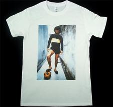 Diego Maradona White T-Shirt Size SMALL-XXXL Football Soccer Panini Boca Juniors