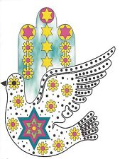 Jewish Greeting Card with Dove
