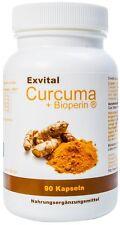 Exvital Curcuma + Bioperin ® - Curcumin hochdosiert, 1500 mg, Kurkuma, Vegi