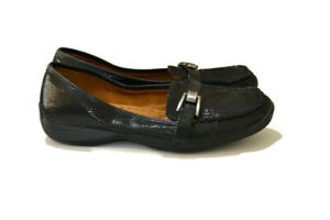 NATURALIZER CALILLY Black Slip On Shoes Work Casual Loafers - Size US9.5 UK7.5