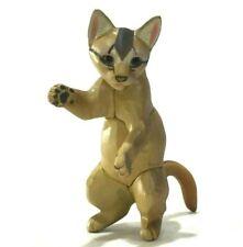 Kaiyodo Choco Q Abyssinian Cat Kitten Pet Miniature Animal Realistic Figure