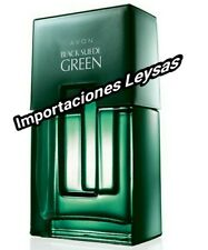 BLACK SUEDE GREEN EAU DE COLOGNE FOR HIM BY AVON MEXICO 100 ML/ 3.4 FL OZ