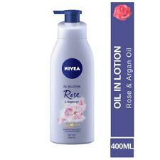 New Nivea Rose and Argan Oil in lotion, 400 ml for dry skin free ship