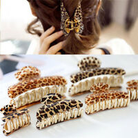 Women Girls Acrylic Leopard Hair Clip Claws Hair Print Style Accessories%PY
