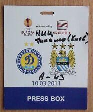Tickets Dynamo Kyiv - Manchester City England 2011 press
