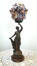 Art Nouveau Spelter Sculpture Lamp