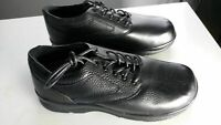 Aetrex Y500M Black Leather Men's Orthopedic Shoes Size 10.5 Wide (AR039)