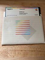 Apple II DOS 3.3 Sample Programs for II+, IIe by Apple Computer Diskware 1982